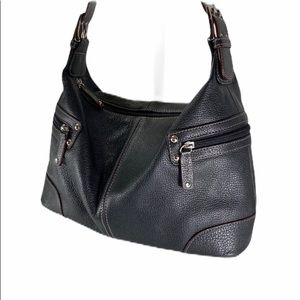 Tignanello Black Leather Small Hobo EUC